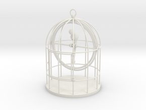 Bird Cage Gimbal in White Strong & Flexible