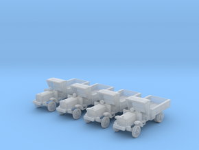 6mm WW1 light trucks (4) in Frosted Ultra Detail