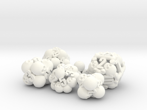Ossuary Dice Set in White Strong & Flexible Polished