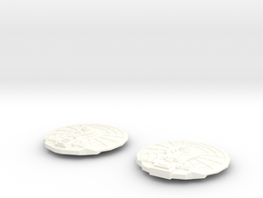Saucers in White Strong & Flexible Polished
