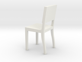 1:24 Square Chair 3 in White Strong & Flexible