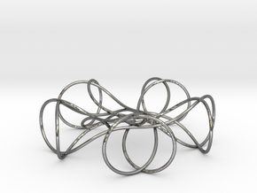 Pentagonal Knot in Polished Silver