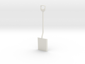 Shovel, 1/8 scale in White Strong & Flexible