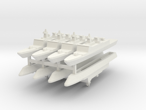 French La Fayette Frigate 1:3000 x8 in White Strong & Flexible
