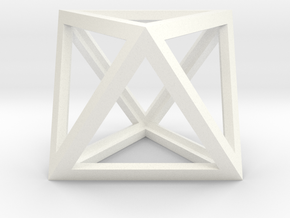 Octahedron in White Strong & Flexible Polished