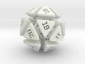 New Class of Dice - Spring-loaded Icodie in White Strong & Flexible