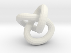 Endless knot thick - 1.7 cm in White Strong & Flexible