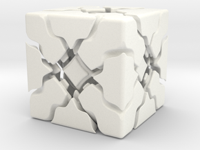 Breeze Cube in White Strong & Flexible Polished