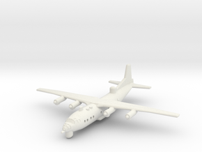 1/300 Antonov AN 12 ECM in White Strong & Flexible