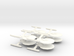 Dorman Class Attack Fleet (8 Ships) in White Strong & Flexible Polished