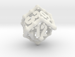 Tentacular D12 in White Strong & Flexible