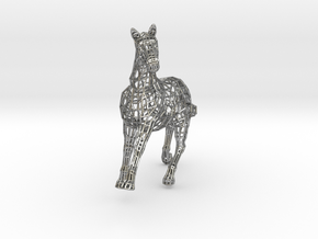 2014 Year of the Horse- Polished Gold in Raw Silver