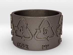 Recycle Codes Ring Size 7.5 in Stainless Steel