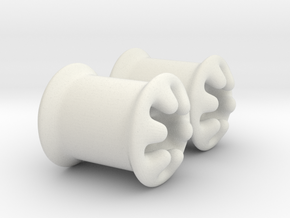 0g plugs in White Strong & Flexible