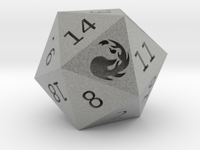 Mountain D20 in Metallic Plastic