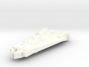 Freighter Beta One (Tolurians) in White Strong & Flexible Polished