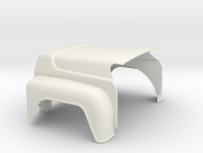 Mack-hood-Valueliner-twin-lamps-airintake in White Strong & Flexible