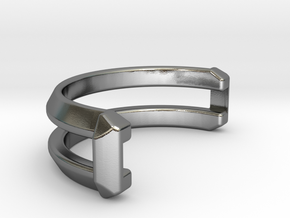 Interconnect Ring (Half) in Polished Silver