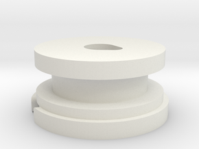 Low profile AAA-Cell Battery Base in White Strong & Flexible