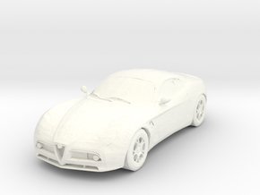 Alfa Romeo 8C Competizione  in White Strong & Flexible Polished