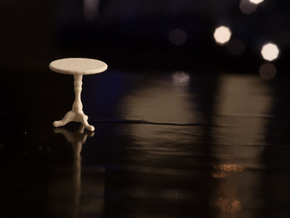 1:48 Round Table in White Strong & Flexible Polished