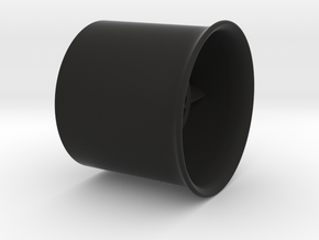 25mm flanged EDF case in Black Strong & Flexible