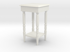 1:24 End Table in White Strong & Flexible