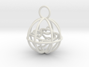 Cage Pendant in White Strong & Flexible