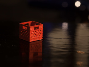 1:24 Square Plastic Crate in White Strong & Flexible
