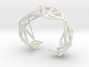 TRIANGULATED CUFF Size Small (other sizes availabl in White Strong & Flexible