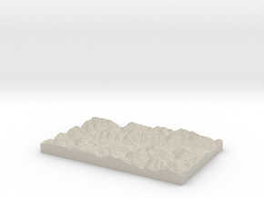 Model of Mompé Tujetsch in Sandstone