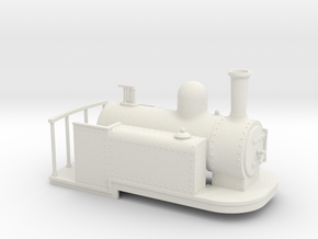 On16.5 Spooner style side tank quarry loco in White Strong & Flexible