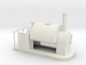On16.5 old style small saddle tank  in White Strong & Flexible