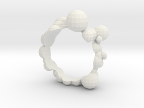 Bubble Ring in White Strong & Flexible