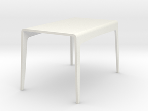 1:24 Bent table in White Strong & Flexible