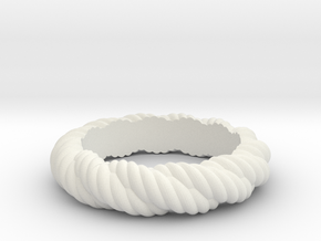 Torque Ring Size 17 (Q) in White Strong & Flexible