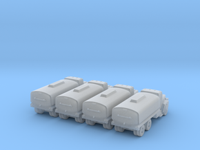 Mack Water Tanker - Set of 4 - Zscale in Frosted Ultra Detail