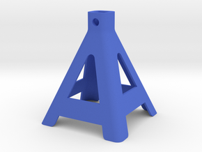 R/C Jack Stand Base 1 of 3 Parts in Blue Strong & Flexible Polished