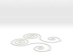Sun Farm Spirals | earrings in White Strong & Flexible Polished