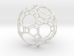 GreatRhombicosidodecahedron 100mm in White Strong & Flexible