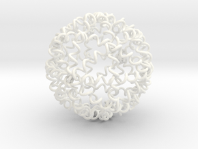 My SPRINGBALL - High Bounce Squishy Ball 90mm in White Strong & Flexible Polished