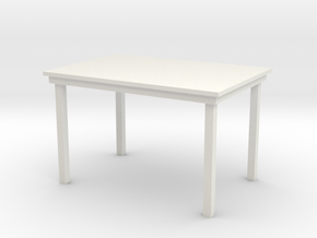 1:24 Dining Table in White Strong & Flexible