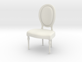1:24 Oval Chair 2 (Not Full Size) in White Strong & Flexible
