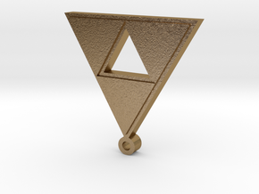 triforce pendant in Polished Gold Steel