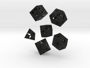 Triforce dice 6 piece set in Black Strong & Flexible