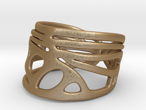 Dragonfly Wing Ring in Matte Gold Steel