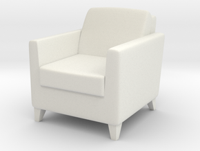 1:24 Arm Chair 1 in White Strong & Flexible