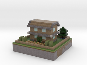 Maison Minecraft in Full Color Sandstone