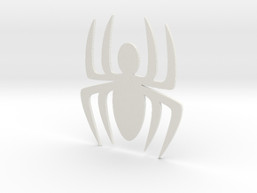 Comic Spider Symbol in White Strong & Flexible