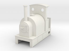 O9 Saddle tank tram loco with cab in White Strong & Flexible